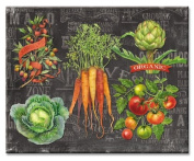 CounterArt Chalkboard Veggies Glass Cutting Board, 38cm by 30cm