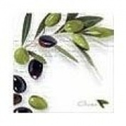 Paperproducts Design 5198 Beverage Cocktail Napkin, 13cm by 13cm , Italian Olives