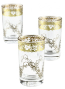 Moroccan Tea Glasses, Fez Gold