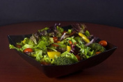 Fineline Settings Wavetrends China-Like Square Serving Bowl, 1890ml, Black