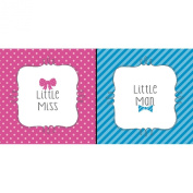 Bow or Bowtie. Beverage Napkin (16) Little Man or Miss Gender Reveal Shower