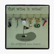 Wine Things WT-1430P Hole in One Wine Charms, Painted