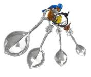 Ganz 4-Piece Measuring Spoons Set, Birds