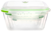 Ozeri INSTAVAC BPA-Fee 8-Piece Green Earth Food Storage Container/Nesting Set with Vacuum Seal and Locking Lids