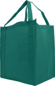 Reusable Reinforced Handle Grocery Tote Bag Large 10 Pack - Teal