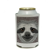 Sloth Face Can Cooler - Drink Insulator - Beverage Insulated Holder