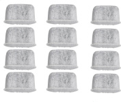 Basily 12 Replacement Charcoal Water filters For Cuisinart Coffee Machine