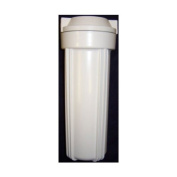 White filter housing sump for reverse osmosis 25cm RO canister 0.6cm