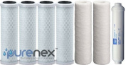 Purenex P-7PK RO filters Premier 1-Year 5-Stage Reverse Osmosis Replacement filter Kit