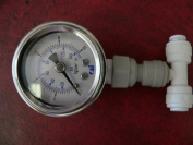 Stainless Pressure Gauge 150 PSI with fitting