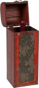 Treasure Chest Wine Box - Wooden for 1 Bottle - By Trademark Innovations