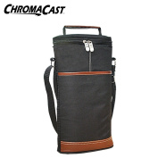 Wine Travel Carrier & Cooler Bag- Chills 2 bottles of wine or champagne.