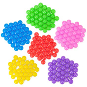 200 Jumbo 7 cm Multi-Coloured Soft Ball Pit Balls with Mesh Carrying Case by Imagination Generation