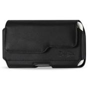 De-Bin XXL SIZE Premium LG G3 2014 Leather Belt Clip Pouch Case Cover Holster