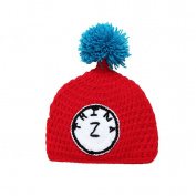JTC Baby Boys Girls Knit Crochet Beanie Infant Letter Photography Prop Unisex Toddle Hat Caps Red