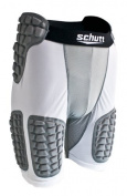 Schutt Protech Padded Compression Shorts, White/Grey, Small
