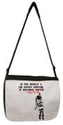 Banksy If You Repeat A Lie Messenger Bag