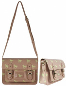 Greys Pink Horse Design Satchel Bag