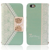 Ukamshop(TM)Vogue Fresh Cute Flip Wallet Leather Case Cover for iPhone 6 12cm