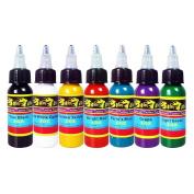 Solong Tattoo® 7 Basic Colours Tattoo Ink Set Pigment Kit 1oz (30ml) Professional Tattoo Supply for Tattoo Kit TI301-30-7
