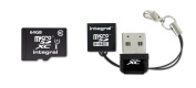 Integral Europe INMSDX64G10-40NAUSBR Micro SDXC Memory Card + Reader - Class 10 - 64 GB - Black