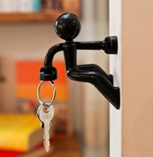 Novelty Wall Climbing Strong Magnetic Man Style Keyring Set Pete Holder,black