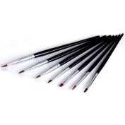 Davidsonne 7pcs Black Nail Art Design Polish Painting Brush Pen Set for UV Gel Builder DIY