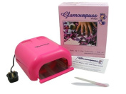 Glamourpuss Boutique® 36W UV Nail Lamp for Nail Curing (Hot Pink) + 4 x 9W Bulbs -NEW 2014 EDITION- Includes FREE Glamourpuss Boutique® Crystal Glass Nail File - High Quality Professional CE Approved - Order by 2pm weekdays for SAME DAY DESPATCH
