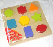 NEW WOODEN SHAPE SORTER SORTING PUZZLE COLOURFUL BABY TODDLER ACK D66732