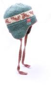Child's Green Fairisle Earflap Hat in Organic Cotton