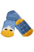 Weri Spezials High ABS Terry Socks, Cheerful Duckling, light Blue