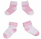Baby Girls Cute Socks 2 Pairs - Pink & White 'I Love Daddy'