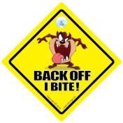 Back Off I Bite Car Sign, Car Sign, Baby On Board, Novelty Car Sign, Tailgating, Back Off
