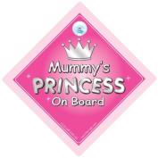 Mummy's Princess On Board Car Sign, Princess On Board, Princess Car Sign, Mother, Mum, Car Sign, Baby On Board Sign,Baby on board, Novelty Car Sign, Baby Car Sign