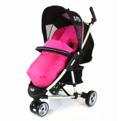 Deluxe Universal Footmuff to fit Petite Star Zia 3 Wheeler - Pink