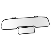 Great Ideas Wide Angle Child Rear View Double Mirror - Easy To Fit And Remove - See Baby In Back Seat - 30cm Wide - Adjustable