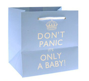 Keep Calm It's a Baby Blue Gift Bag Large