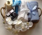 Luxury Newborn Baby Boy Hamper - free. Message Option