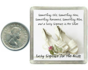 Lucky Silver Sixpence for the Bride to be. Coin for Wedding Day Shoe Gift. Includes presentation keepsake box, great present idea.