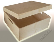 LARGE PLAIN WOOD KEEPSAKE SOUVENIRS WOODEN MEMORY BOX FOR CRAFT P37