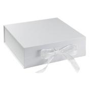 BabywearUK Keepsake Box - White box with bow