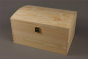 EXTRA LARGE TREASURE CHEST PLAIN WOODEN BOX WOOD KEEPSAKE MEMORY GIFT BOX DECOUPAGE CRAFT ART