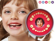 Baby Tooth Organiser    Firsty Round    (Red, Boy, Girl). 100% made in EU.