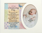Memory Mounts Baby's Christening Gift For A Photo Frame 25cm x 20cm Boy Or Girl