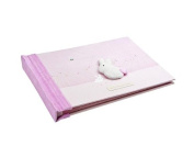 Handcrafted Pink Baby Record Book for New Born Baby Girl by Mousehouse Gifts