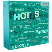 Arpan 10 x 15cm Large Photo Album for 500 Photo's Teal blue