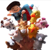 Old Macdonald Had a Farm Animals Finger Puppets -10Pcs