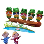 7 Pcs Five Little Speckled Frogs Animals Finger Puppets