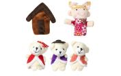 Homgaty 5Pcs Goldilocks And The Three Bears Animals Finger Puppets Story Telling Nursery Fairy Tale The Perfect Birthday, Christmas Gift