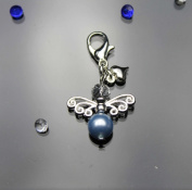 Something Blue. Element Guardian angel charm, Best Gift for Bride